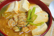 Canh kim chi, món ngon, món canh ngon, ngày lạnh,mùa đông, ngao, đậu phụ