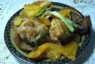 Gà kho dứa, gà rim dứa, món ngon từ gà, món rim, gà rim