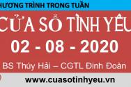 Nghe Chương trình Cửa Sổ Tình Yêu mới nhất ngày 02-08-2020 - Tư vấn tâm lý