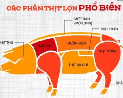thịt lợn, thịt nạc vai, thịt thủ lợn, các món ăn từ thịt lợn