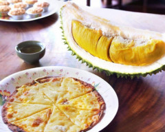 sầu riêng, các món ăn từ sầu riêng, pizza sầu riêng, nước mía sầu riêng
