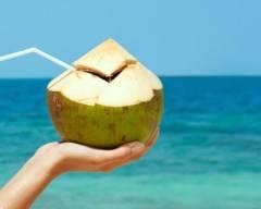 nước dừa, công dụng, đẹp da, uống, mặt nạ