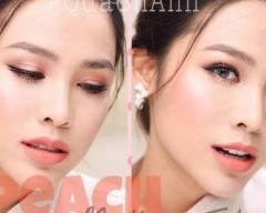 trang điểm, cam đào, tông cam đào, peach makeup tutorial