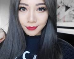 nhuộm tóc màu than chì, tóc đẹp, instagram, cua so tinh yeu