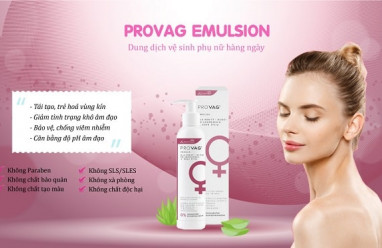 dung dịch vệ sinh phụ nữ, provag emulsion, cách dùng đúng, cua so tinh yeu