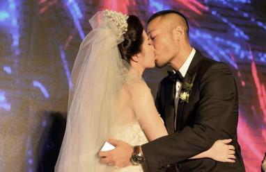 Quỳnh nga, doãn tuấn, đám cưới, khóa môi, say đắm, tiệc cưới