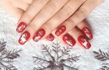 móng tay, nail, họa tiết, Giáng sinh, Noel, làm đẹp