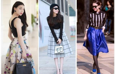 Chân váy, chân váy đẹp, chân váy mùa hè, thời trang của sao, sao việt