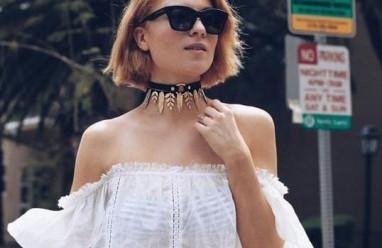vòng cổ  ,   áo trễ vai   ,  xu hướng  ,   mặc đẹp