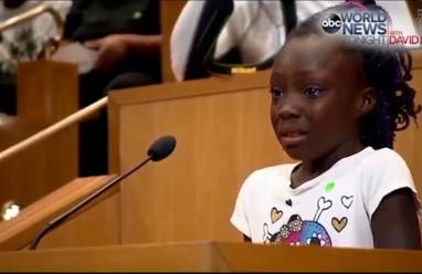 bài phát biểu     đụng độ súng tại Mỹ     bắn người da đen     cô bé da màu 9 tuổi ,    thành phố Charlotte   ,  biểu tình tại Mỹ ,    cảnh sát Mỹ