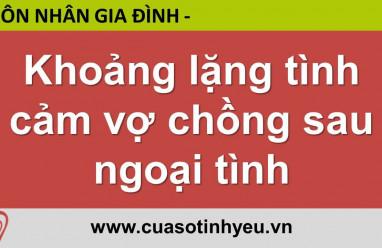 Khoảng lặng tình cảm vợ chồng sau ngoại tình - Nguyễn Thị Mùi