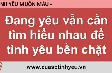 Đang yêu vẫn cần tìm hiểu nhau để tình yêu bền chặt - Nguyễn Thị Mùi