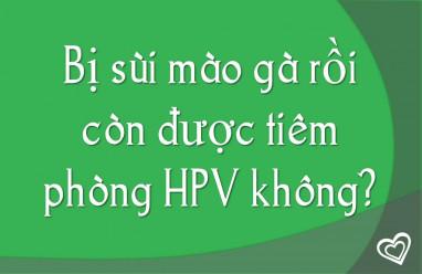 Bị sùi mào gà rồi còn được tiêm phòng HPV hay không?