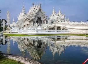 du lịch thái lan, đền thờ trắng, Wat Rong Khun, đền trắng, thái lan, du lịch