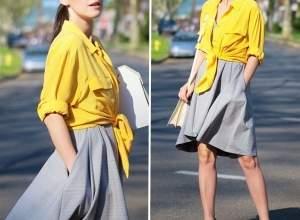 thời trang,váy xòe, thời trang mùa thu, lãng mạn, xu hướng thời trang thu 2014