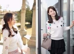 thời trang, phong cách, áo len, dạo phố, thời trang ngày đông, áo len trơn, sáo len cầu vồng, áo len nữ