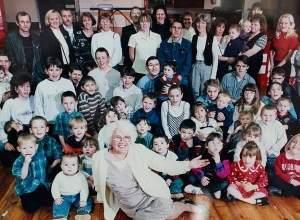 Cụ bà, đông con cháu, gia đình độc đáo, sinh con, chuyện lạ, tuổi thọ