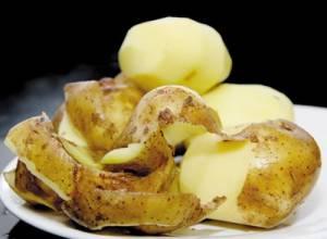 vỏ khoai tây, dinh dưỡng, công dụng, nấu ăn