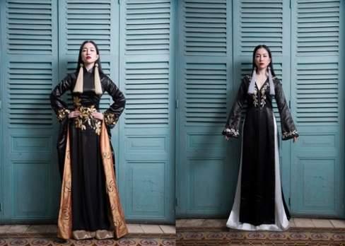 Hay quyền lực và sang trọng trên nền áo dài Võ Việt Chung.