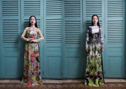 Chim công làng múa Linh Nga dường như là nàng thơ của các nhà thiết kế trong những bộ áo dài.