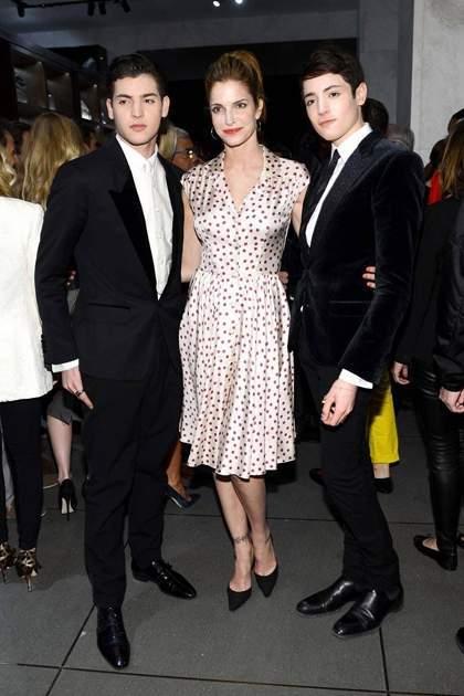 Stephanie Seymour thường tham khảo ý kiến của hai con trai khi chọn trang phục.
