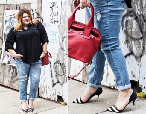 Ngay cả với bộ trang phục xuống phố đơn giản thì điểm nhấn với giày và túi giúp