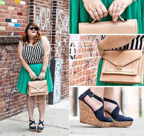 Phong cách thời trang ngày hè rất được Nicolette ưa thích với bộ giày platform và túi vuông