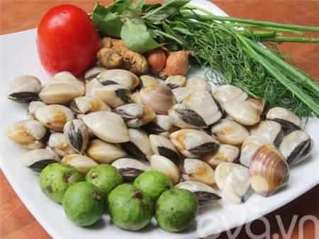 món ăn ngon, món ngon dễ làm, canh ngao, sấu chua, thanh nhiệt mùa hè, ngon miệng