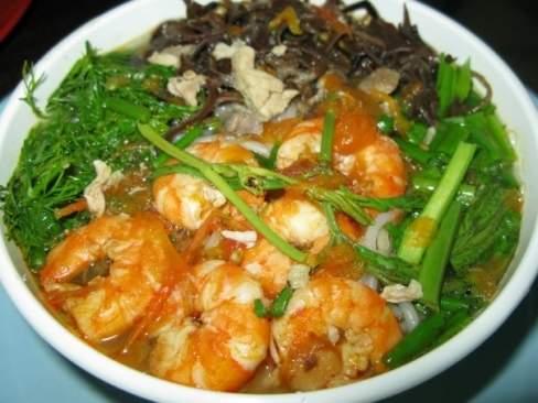 món ăn ngon, món ngon dễ nấu, bún tôm, cuối tuần, ngon tuyệt, hấp dẫn, gia đình