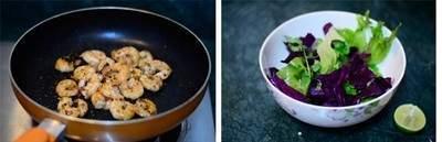 món ngon, salad rau trộn, cách làm salad, món salad, món khai vị, món ăn từ tôm, rau diếp, sữa chua, dầu ô liu, rượu vang