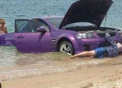 ảnh hài hước, tắm biển, bãi biển, tình huống hải hước