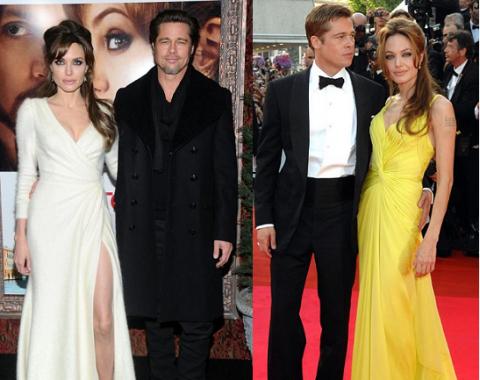 angelina jolie, brad pitt, thời trang thảm đỏ, thời trang dạ hội, thời trang của sao, cặp đôi, gu thời trang