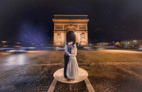 Những bức ảnh cưới tuyệt đẹp trong đêm