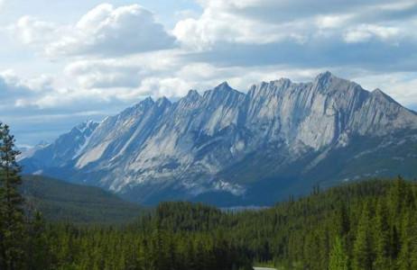 Đường trong Công viên quốc gia Jasper, Alberta, Canada