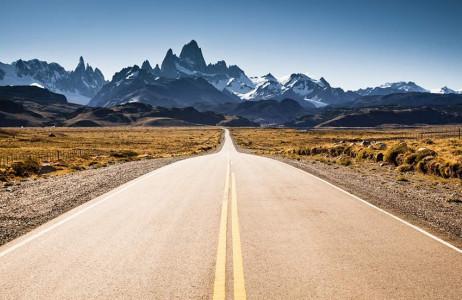 Đường tới El Chanten, Argentina