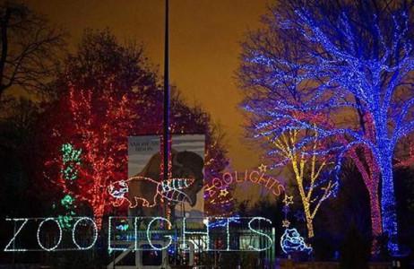Công viên Quốc gia Mỹ kỳ ảo trong ánh sáng của hơn 50.000 ánh đèn LED được bật suốt từ ngày 8.12.2014 - 1.1.2015.