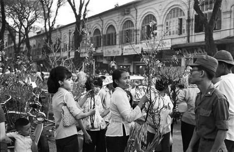Một góc chợ hoaTết Sài Gòn xưa