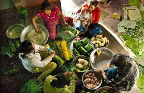 Tết nay dù nhiều gia đình vẫn giữ truyền thống gói bánh chưng ngày Tết