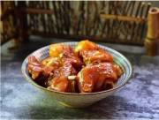mâm cơm ngon, món ngon mỗi ngày, chân giò om khoai tây, cua so tinh yeu