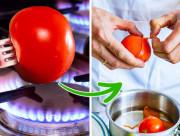 mẹo nhà bếp, mẹo bóc vỏ cà chua, mẹo hay, mẹo nhà bếp hay