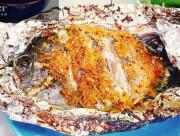 cá nướng, cá dìa nướng ngũ vị, món ngon