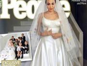 Brad Pitt, Angelina Jolie, đám cưới của Jolie, váy cưới, độc đáo