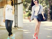 Thời trang sao việt, giày thể thao, mặc đẹp, phối đồ, mix đồ, xu hướng thời trang