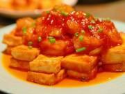 mónn gon, cách làm, đậu phụ sốt cà chua, nội trợ