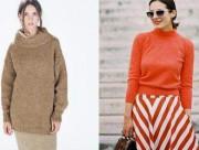 trang phục, thời trang, áo len, áo len cổ lọ, xu hướng thời trang, đẹp
