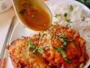 món trứng chiên, cách làm món trứng chiên, trứng chiên phồng nhân thịt, cua so tinh yeu