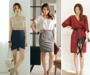 Thời trang công sở, mùa thu, váy trơn, đồ màu trơn, xu hướng thời trang thu