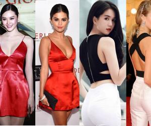 style sao Việt, sao Việt, váy nhái, đạo thiết kế, Ngọc Trinh, Linh Chi, Yến Trang, thời trang của sao việt