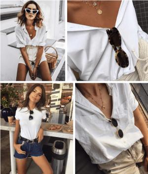 Áo hai dây, Áo sát nách, Áo phông trắng, Đeo trang sức, Cách mặc đồ đẹp, cua so tinh yeu