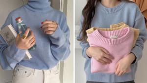 áo len, mix đồ, thời trang mùa lạnh, mặc đẹp, áo len cổ lọ, áo nỉ, cua so tinh yeu